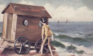 Peeping Tom, Stick Doll peeping in the Ladies Bathing at Beach, PU-1906; TUCK