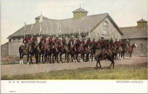 RNW Mounted Police Western Canada Regina SK Mounties Horses Unused Postcard F88