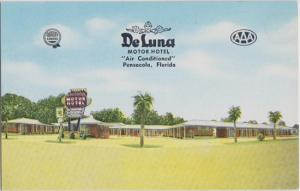 PENSACOLA FL - DELUNA MOTOR HOTEL Motel 1950s NOW Travel Inn