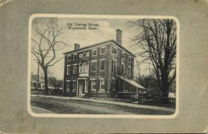 Weymouth, Mass., Old Cowing House (1910s) Reverse Side Dutch Soap Ad