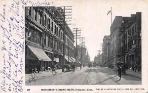 Main St. Looking South, Bridgeport, Connecticut, early postcard, Used in 1903