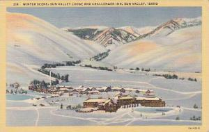 Winter scene, Sun Valley Lodge and Challenger Inn, Sun Valley,  Idaho,  PU_1943
