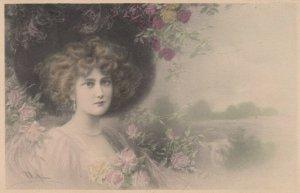 M.M. VIENNE : Female Head Portrait , 1909 ; Wichera