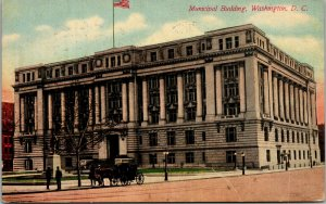 Municipal Building, Pennsylvania Avenue, Washington DC horse carriage 1914