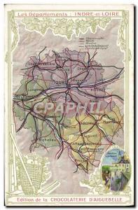 Postcard Old MAPS Chocolaterie d & # 39Aiguebelle Indre et Loire Amboise
