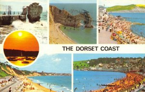Dorset Multi View Postcard, Portland Bill, Lulworth, Lyme Regis, Swanage FL0