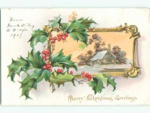 Divided-Back CHRISTMAS SCENE Great Postcard W8946