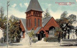 Congregational Church, Cloverdale, California 1924 Vintage Postcard