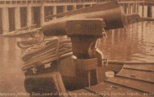GRAYS HARBOR , Washington , 00-10s ; Harpoon Whale Gun