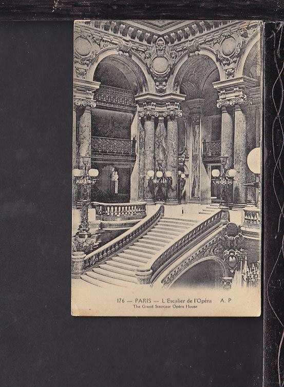 Grand Staircase,Opera House,Paris,France Postcard