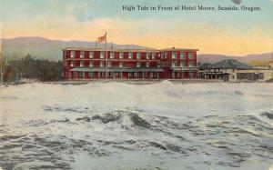 Seaside Oregon Hotel Moore High Tide Antique Postcard J62055