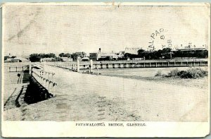 Glenelg, SOUTH AUSTRALIA Postcard Patawalonga Bridge Postally-Used 1908 Cancel