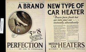 1926 Perfection Motor Car Heaters Chevrolet Hudson Dodge Vintage Print Ad 4511