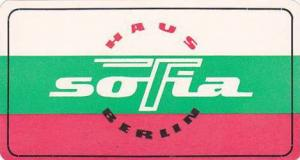 GERMANY BERLIN HAUS SOFIA VINTAGE LUGGAGE LABEL