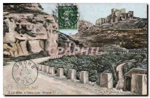 Old Postcard Les Baux Le Chateau seen Piglets