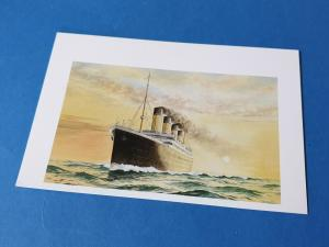 Art Postcard of The Titanic by Rembrandt 1V