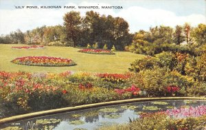 Lily Pond, Kildonan Park, Winnipeg, Manitoba, Canada, Early Postcard, Used