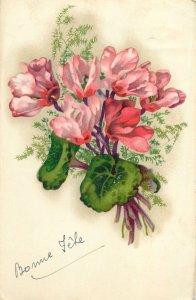 Postcard Greetings flowers bonne fete bouquet