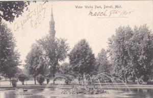 Water Works Park, DETROIT, Michigan, PU-1905