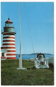 West Quoddy Head Light at Lubec, Maine