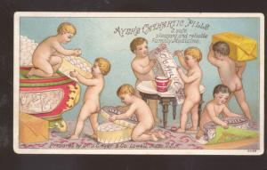 AYER'S CATHARTIC PILLS MEDICAL MEDICINE ADVERTISING VICTORIAN TRADE CARD