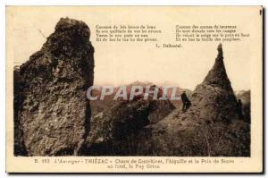 Old Postcard Auvergne Thiezac Chaos Casteltinet Aiguille and the Sugar Loaf i...