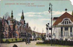 Exposition Universelle Bruxelles 1910 Le Restaurant Allemand