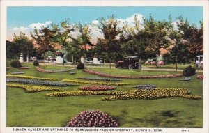 Sunken Garden And Entrance To Morningside Park On Speedway Memphis Tennessee