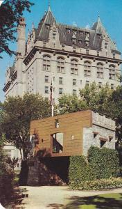 The Fort Garry Gate at Fort Garry Hotel, Fur Trading History, Main Street, Wi...
