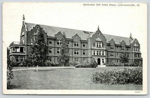 Lawrenceville Illinois~Methodist Old Folks Home @ 16th Street~1947 B&W Postcard