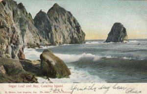 CATALINA ISLAND , California , PU-1906 ;  Sugar Loaf and Bay