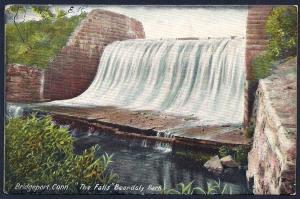 Beardsly Park Falls Bridgeport Connecticut used c1907