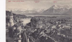 Thun und die Alpen , Switzerland , PU-1909