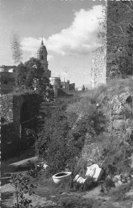 Spain Malaga, Un rincon de la Alcazaba 1957
