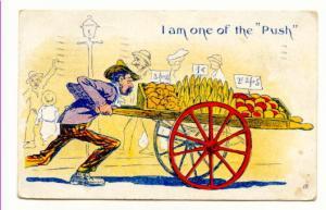 Thin Man Produce Cart One of the 'Push' Vintage Cartoon, 17
