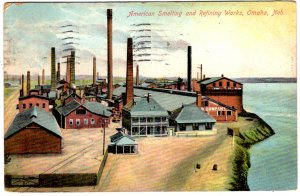 Omaha, Nebraska - American Smelting and Refining Works - in 1909