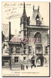 Old Postcard Bourges Palais Jacques Heart of Entree