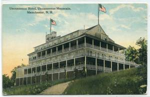 Uncanoonuc Hotel Mountain Manchester New Hampshire 1910c postcard