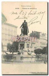 Postcard Statue Old Nice Massena