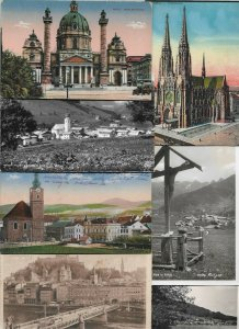 Austria - Wien Saalbach Salzburg and more Postcard Lot of 19 with RPPC  01.09