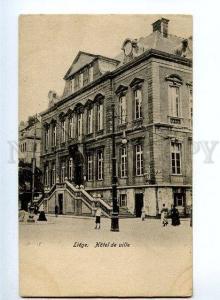 131672 BELGIUM LIEGE Hotel de ville Vintage postcard