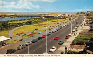 Vintage Postcard The Promenade, Kings Gardens & Marine Lake, Southport N77