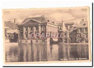 Netherlands Den Haag Old Postcard Hofvijver met Mauritshuis