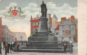 Stephenson's Monument Statues Newcastle on Tyne
