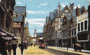 Vintage 1908 Art Postcard Eastgate CHESTER by Shureys Publications