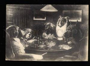 046650 COLLIE & GREAT DANE play in Cards CASINO old