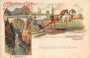 Advertising Postcard - Old Vintage Antique  St Sauveur Pont Napoleon