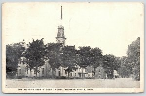 McConnelsville Ohio~2nd Empire Morgan County Courthouse~Main Street Stores~1921