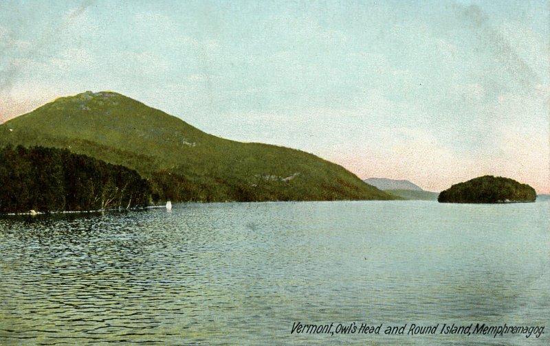 VT - Newport. Lake Memphremagog, Owl's Head, Round Island