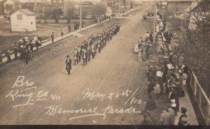 RP; Main Street #2, Parade, King Edward VII Memorial, PRINCE ALBERT, Saskatchewa